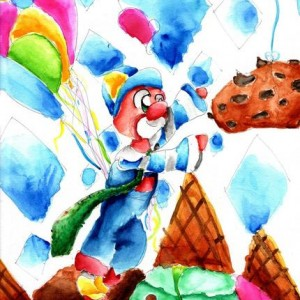 fanart of Donuts The Clown